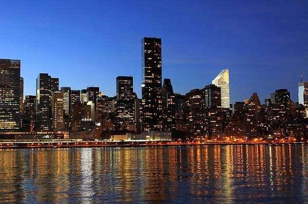 Nueva York skyline nocturno